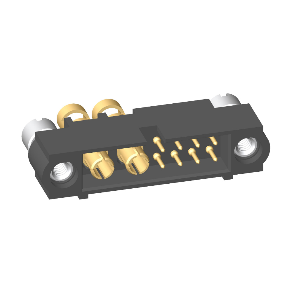 M80-5C10805M3-00-000-02-335 - 8+4 Pos. Male 24-28AWG+12AWG Cable Conn. Kit, Panel Mount