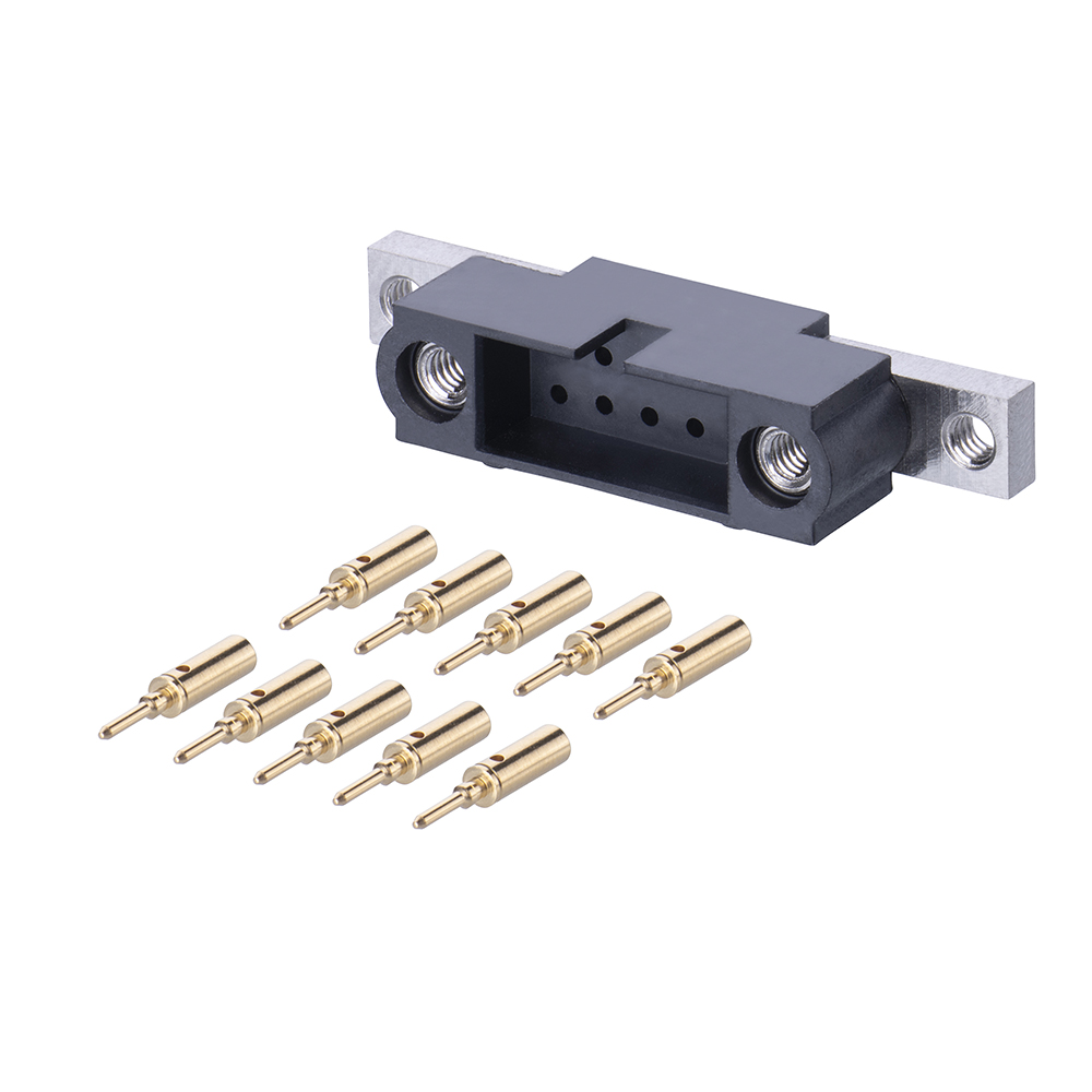 M80-5C11005MU - 5+5 Pos. Male DIL 24-28AWG Cable Conn. Kit, Panel Mount