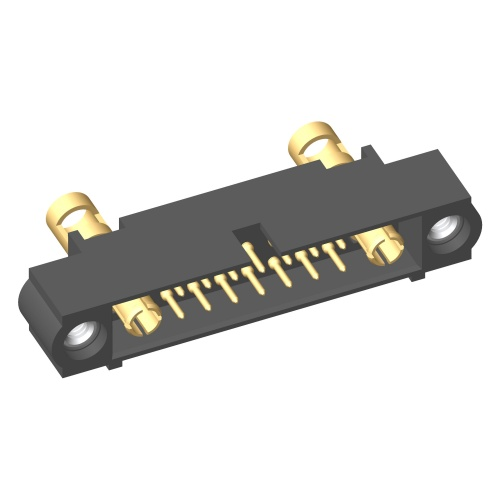 M80-5C11405M1-01-335-01-335 - 14+2 Pos. Male 24-28AWG+12AWG Cable Conn. Kit, Jackscrews