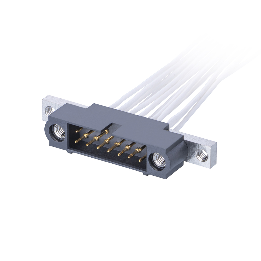 M80-5C14605MU - 23+23 Pos. Male DIL 24-28AWG Cable Conn. Kit, Panel Mount