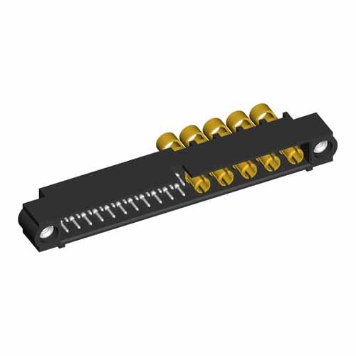 M80-5C12205M1-05-335-00-000 - 22+5 Pos. Male 24-28AWG+12AWG Cable Conn. Kit, Jackscrews