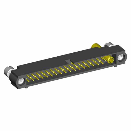 M80-5C13405M2-01-335-00-000 - 34+1 Pos. Male 24-28AWG+12AWG Cable Conn. Kit, Jackscrews