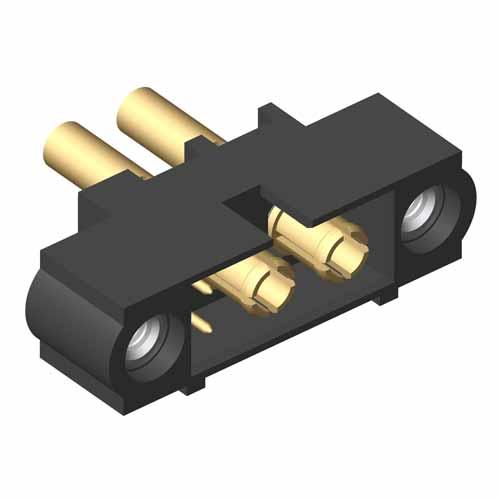 M80-5D10205M1-02-338-00-000 - 2+2 Pos. Male 22AWG+18AWG Cable Conn. Kit, Jackscrews