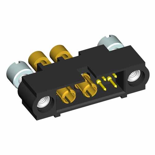 M80-5D10405M3-00-000-02-337 - 4+2 Pos. Male 22AWG+16AWG Cable Conn. Kit, Jackscrews