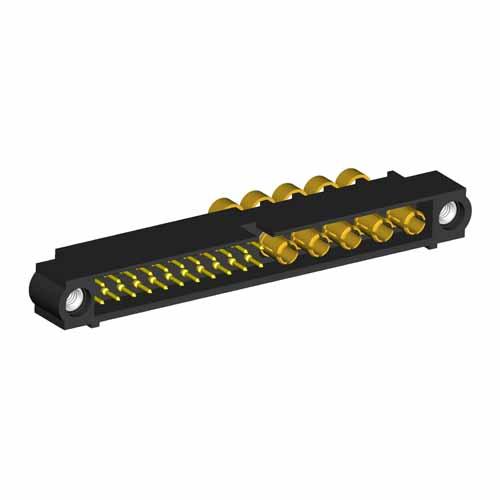 M80-5D12205M1-05-335-00-000 - 22+5 Pos. Male 22AWG+12AWG Cable Conn. Kit, Jackscrews