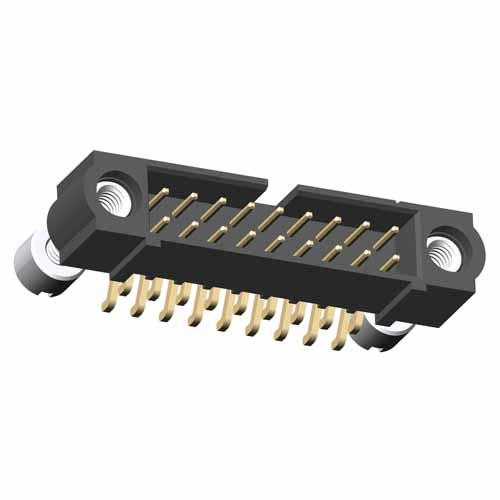 M80-5S24805M3 - 24+24 Pos. Male DIL Horizontal SMT Conn. Jackscrews