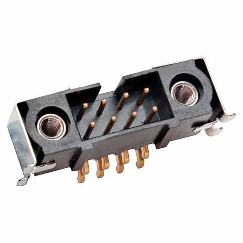 M80-5S20605MQ - 3+3 Pos. Male DIL Horizontal SMT Conn. Jackscrews