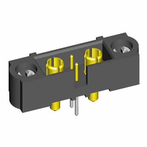 M80-5T20242MC-01-331-01-331 - 2+2 Pos. Male Signal+Power Vertical Throughboard Conn. 101Lok