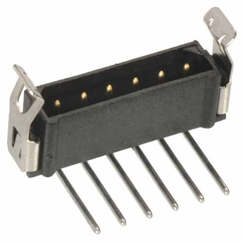 M80-7920422 - 4 Pos. Male SIL Horizontal Throughboard Conn. Latches