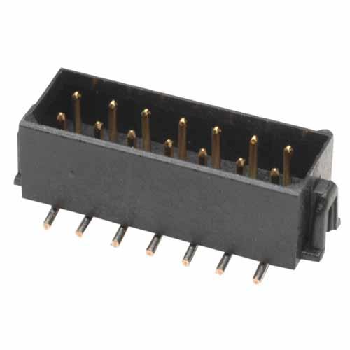 M80-8261422P - 7+7 Pos. Male DIL Vertical SMT Conn. No Latches (P+P)