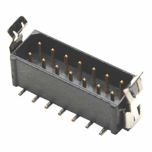 M80-8281422 - 7+7 Pos. Male DIL Vertical SMT Conn. Latches