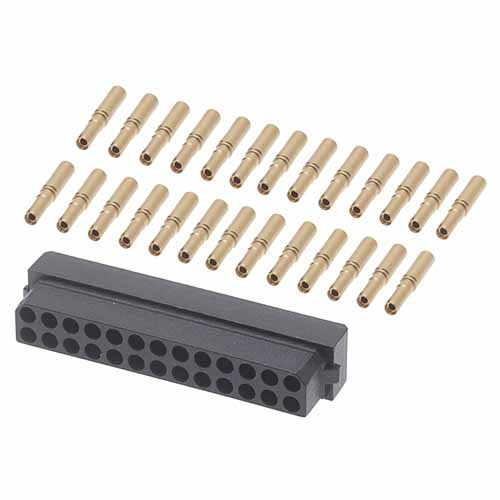 M80-8442645 - 13+13 Pos. Female DIL 24-28AWG Cable Conn. Kit, for Latches