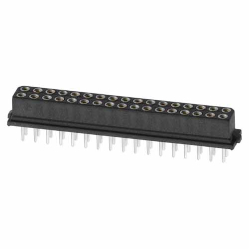 M80-8503442 - 17+17 Pos. Female DIL Vertical Throughboard Conn. for Latches