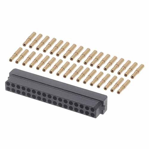M80-8893405 - 17+17 Pos. Female DIL 22AWG Cable Conn. Kit, for Latches