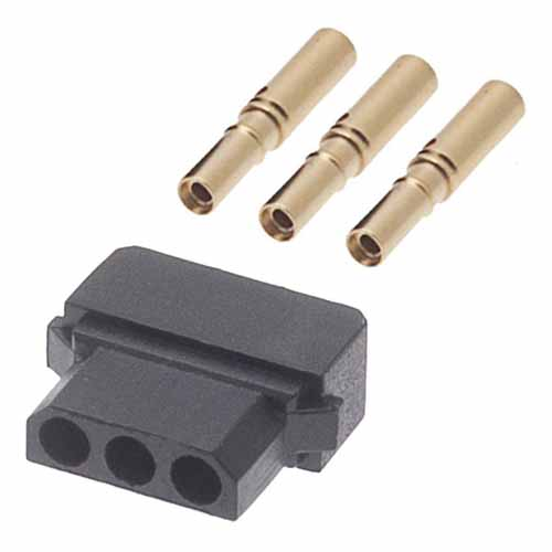 M80-8980305 - 3 Pos. Female SIL 24-28AWG Cable Conn. Kit, for Latches