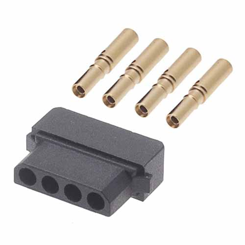 M80-8980405 - 4 Pos. Female SIL 24-28AWG Cable Conn. Kit, for Latches