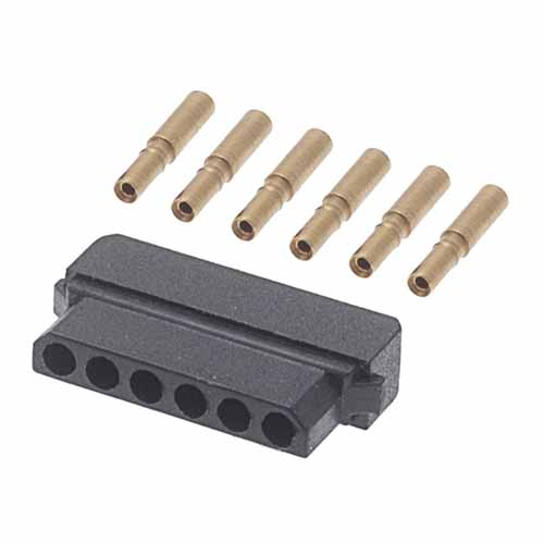 M80-8990605 - 6 Pos. Female SIL 22AWG Cable Conn. Kit, for Latches