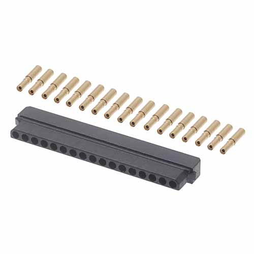 M80-8991705 - 17 Pos. Female SIL 22AWG Cable Conn. Kit, for Latches