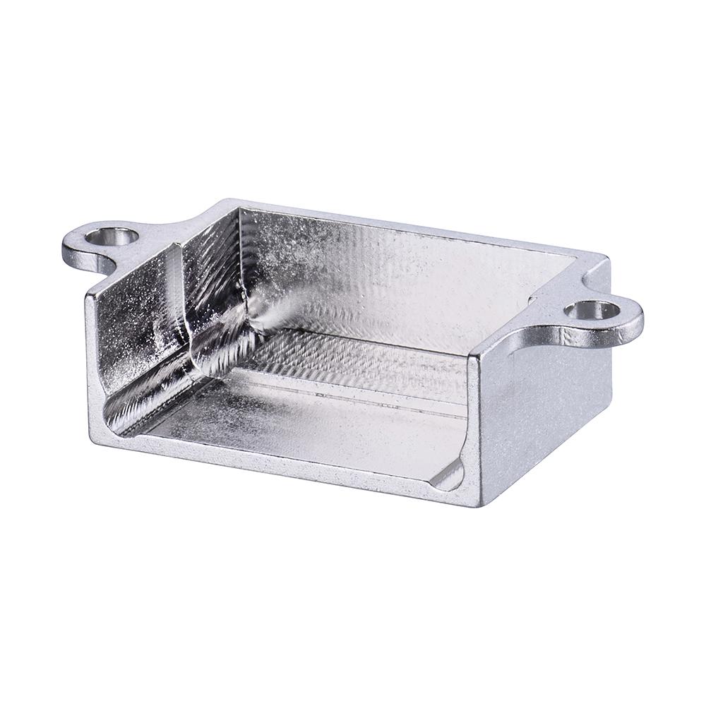 M80-9040802 - 4+4 Pos. Male Horizontal Metal Backshell for J-Tek or Mix-Tek