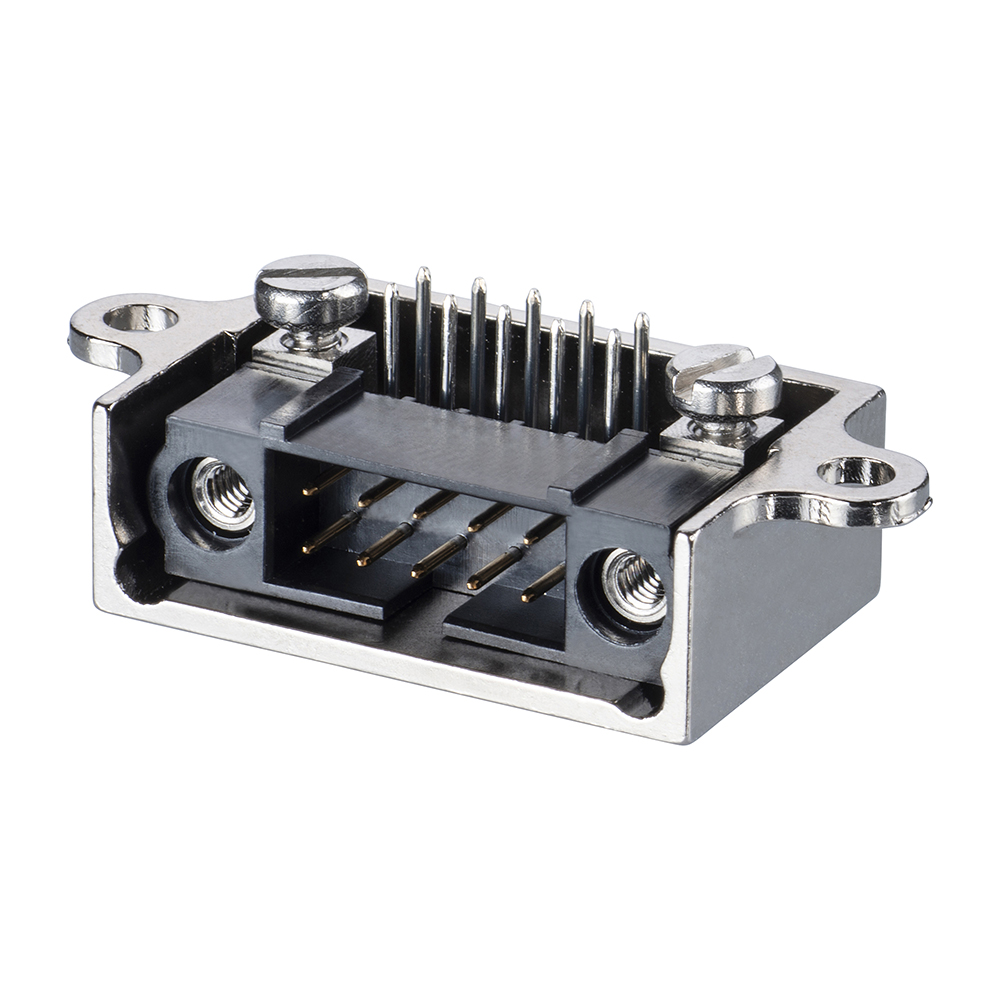 M80-9040402 - 2+2 Pos. Male Horizontal Metal Backshell for J-Tek or Mix-Tek