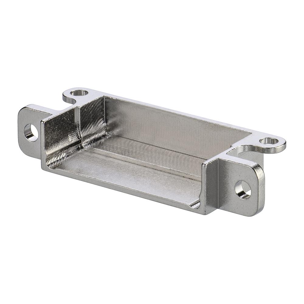 M80-9051602 - 8+8 Pos. Male Horizontal Metal Backshell for J-Tek or Mix-Tek, Panel Mount