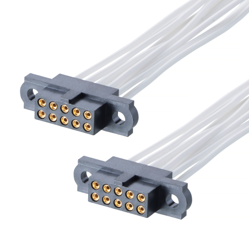 M80-FC50605F0-XXXXF0 - 3+3 Pos. Female DIL 30AWG Cable Assembly, double-end, no Jackscrews