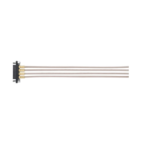 M80-FC305F1-04-0300L - 4 Pos. Female SIL RG178 Cable Assembly, 300mm, single-end, Jackscrews