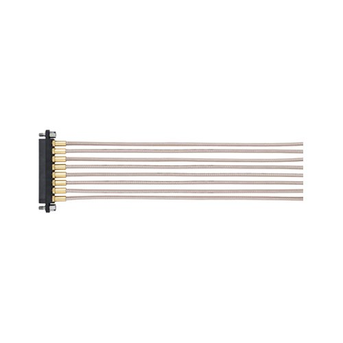 M80-FC305F1-08-0300L - 8 Pos. Female SIL RG178 Cable Assembly, 300mm, single-end, Jackscrews