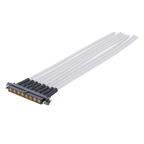 M80-FC325F1-08-0150L - 8 Pos. Female SIL 12AWG Cable Assembly, 150mm, single-end, Jackscrew