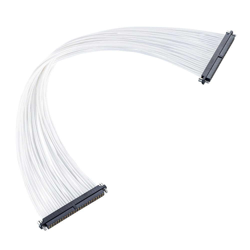 M80-FC35005F2-0300F2 - 25+25 Pos. Female DIL 26AWG Cable Assembly, 300mm, double-end, Jackscrews