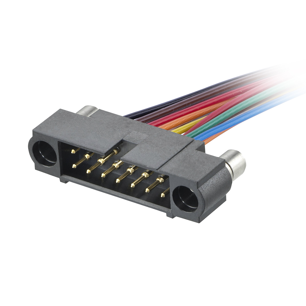 M80-MC13468MB-XXXXL - 17+17 Pos. Male DIL 22AWG Cable Assembly, single-end, Reverse Fix