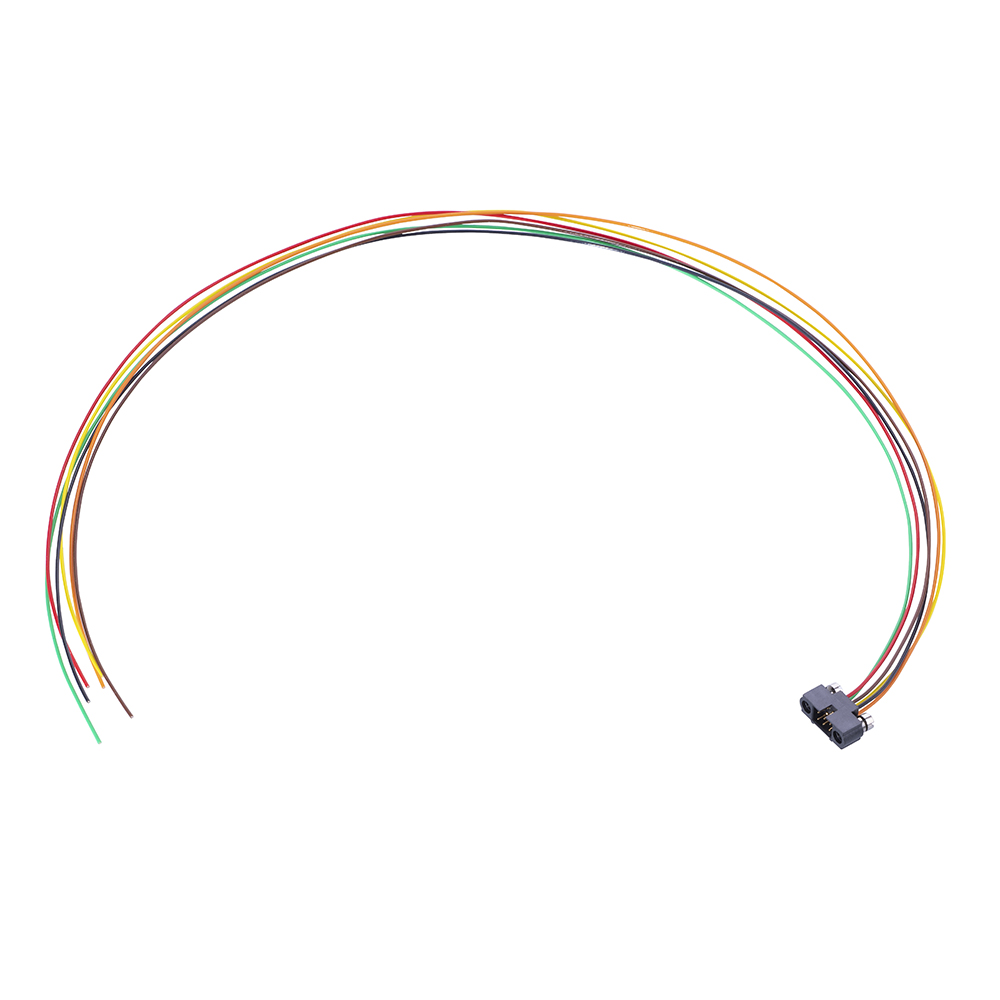M80-MC20668MA-0450L - 3+3 Pos. Male DIL 24AWG Cable Assembly, 450mm, single-end, Reverse Fix