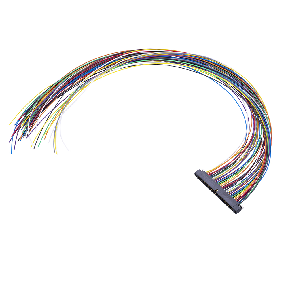 M80-MC25068MA-XXXXL - 25+25 Pos. Male DIL 24AWG Cable Assembly, single-end, Reverse Fix