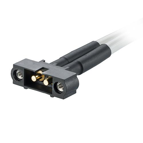 M80-MCPM5M1-02-XXXXL - 2 Pos. Male SIL 10AWG Cable Assembly, single-end, Jackscrews