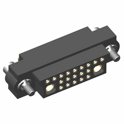 M83-LFD1F2N19-0101-326 - 19+2 Female 3-Row 22AWG+14AWG Cable Conn. Kit, Jackscrews