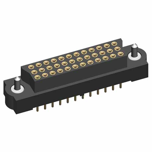 M83-LFT1F4N96-0000-000 - 32 x 3-Row Female Vertical Throughboard Conn. Guide Pin