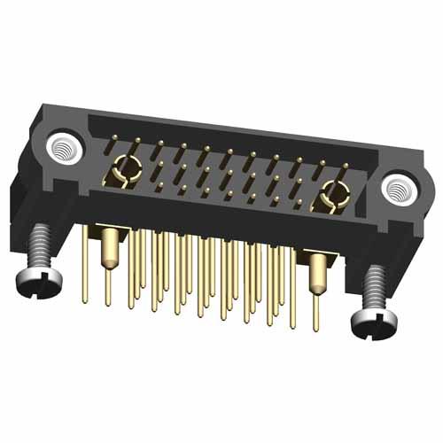 M83-LML3M5N25-0101-333 - 25+2 Male 3-Row Signal+Power Horizontal Throughboard Conn. Jackscrews