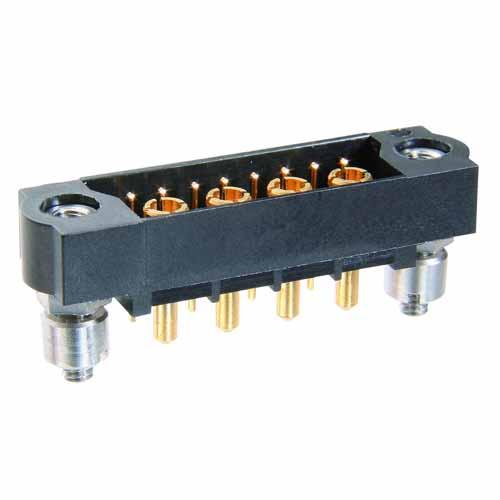 M83-LMT1M3N08-0400-331 - 8+4 Male 3-Row Signal+Power Vertical Throughboard Conn. Jackscrews