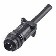 C90-3106F10SL-4P - 2 Pos. Circular Straight Plug Conn. Plug contact