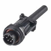 C90-3106F14S-6P - 6 Pos. Circular Straight Plug Conn. Plug contact