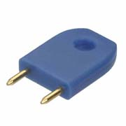 D3087-97 - Male Insulated 6.35mm Shorting Link, Blue