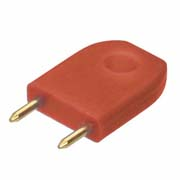 D3087-99 - Male Insulated 6.35mm Shorting Link, Red