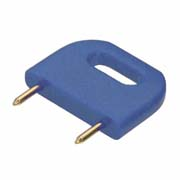 D3088-97 - Male Insulated 10.16mm Shorting Link, Blue