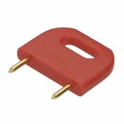 D3088-99 - Male Insulated 10.16mm Shorting Link, Red