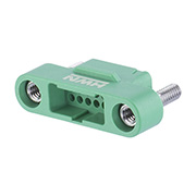 G125-3241096M2 - 5+5 Pos. Male DIL Cable Housing, Screw-Lok Panel Mount