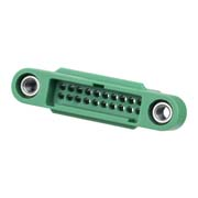 G125-3242096M1 - 10+10 Pos. Male DIL Cable Housing, Screw-Lok