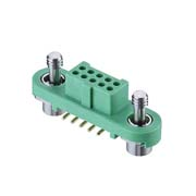 G125-FS11005F1R - 5+5 Pos. Female DIL Vertical SMT Conn. Screw-Lok (T+R)