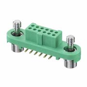 G125-FS11205F1P - 6+6 Pos. Female DIL Vertical SMT Conn. Screw-Lok