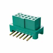 G125-FS11205L0R - 6+6 Pos. Female DIL Vertical SMT Conn. for Latches (T+R)