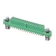G125-FS13405F1P - 17+17 Pos. Female DIL Vertical SMT Conn. Screw-Lok